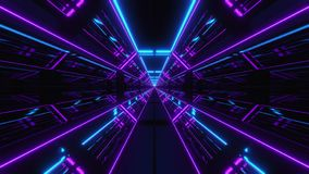Футуристический multi тоннель 3d scifi цвета представить иллюстрация штока