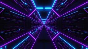 Футуристический multi тоннель 3d scifi цвета представить бесплатная иллюстрация