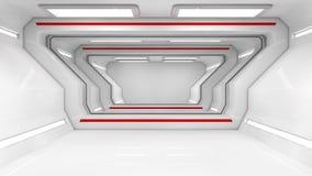 Футуристический SCIFI коридора иллюстрация вектора