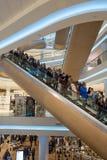 Футуристическим торговый центр восстановленный интерьером Стоковое фото RF