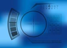 Футуристическое визирование для интерфейса игры Стоковое Фото