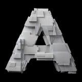 Футуристическое почищенное щеткой алюминиевое письмо a иллюстрация штока