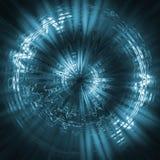 футуристическое предпосылки голубое Стоковые Изображения RF