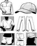фуфайки рубашек longsleeve иллюстрация вектора