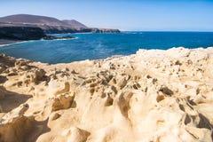 Фуэртевентура, пещера Ajuy в Канарских островах, Испании Стоковое фото RF