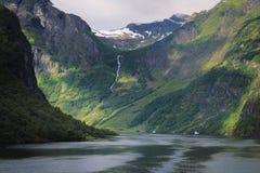 Фьорды в лете стоковое фото