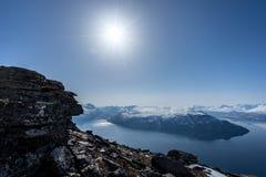 Фьорд в Норвегии стоковые изображения