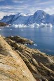 фьорд Гренландия северо-западная Стоковое фото RF