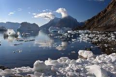 фьорд Гренландия северо-западная Стоковая Фотография RF