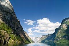 фьорд Норвегия сценарная Стоковое Изображение