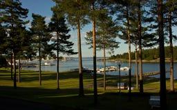 Фьорд Осло осмотренный от Nøtterøy, Норвегии стоковые изображения