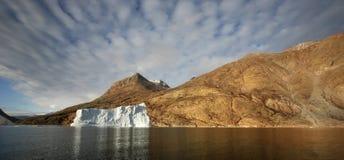 Фьорд Franz Иосиф - Гренландия Стоковая Фотография RF