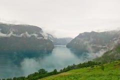 Фьорд Geiranger, Норвегия Стоковое фото RF