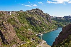 Фьорд Jossing в Rogaland, Норвегии Стоковая Фотография