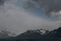 Фьорд Drygalski, Южная Георгия стоковые изображения rf