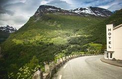 Фьорд Geiranger, красивая природа Норвегия Стоковые Фото