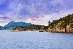 Фьорд Lysefjord - Норвегия Стоковая Фотография RF