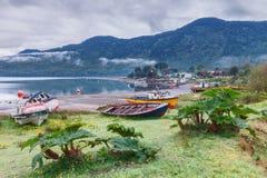 Фьорд Puyuhuapi, Патагония, chile Стоковое Изображение RF