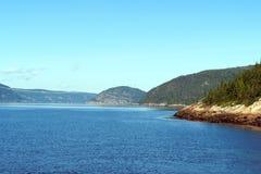 Фьорд Saguenay в Канаде Стоковое Изображение RF