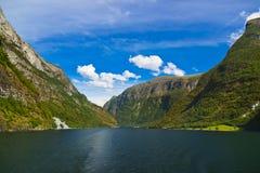 Фьорд Sognefjord - Норвегия Стоковое Изображение RF