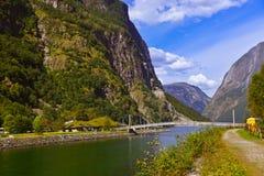 Фьорд Sognefjord - Норвегия Стоковые Изображения