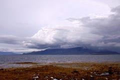 Фьорд Stakksfjordur в Исландии Стоковые Фотографии RF
