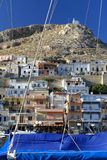 Фьорд Vathi на острове Kalymnos Стоковое Фото