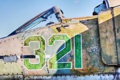 фюзеляж самолет-истребителя кокпита Стоковое Изображение RF