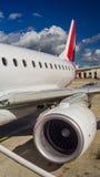 Фюзеляж крыла турбины самолетного двигателя Стоковое Изображение