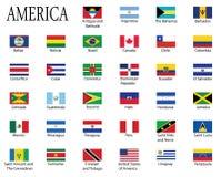 флаги Америк Стоковая Фотография