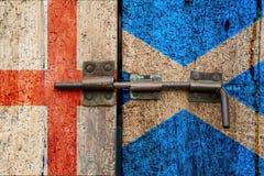 Флаги Англии v Шотландия стоковые фотографии rf