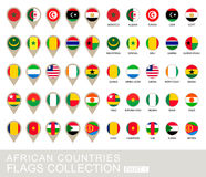 Флаги африканских стран собрание, часть 1 Стоковое Изображение
