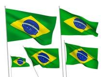 Флаги вектора Бразилии Стоковое Изображение RF
