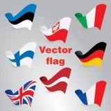Флаги вектора Стоковые Фотографии RF
