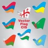 Флаги вектора Стоковые Изображения RF