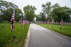 Флаги выравнивают улицу Стоковая Фотография