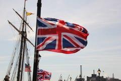 Флаги в небе Стоковые Фотографии RF
