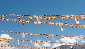 Флаги в церемонии Стоковые Изображения RF
