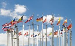 Флаги европейских стран Стоковые Изображения RF