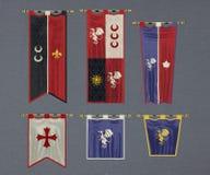 Флаги замка Стоковые Изображения