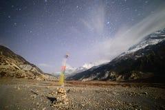 Флаги звездной ночи и молитвы Стоковая Фотография RF