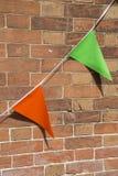 Флаги зеленого цвета и апельсина Стоковые Фото
