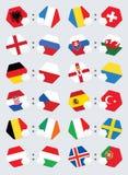 Флаги команды конкуренции футбола евро Стоковые Изображения