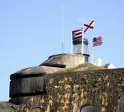 Флаги крепости стоковые фотографии rf