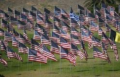 Флаги - мемориальный дисплей Стоковое фото RF
