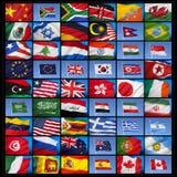 Флаги мира стоковое изображение rf