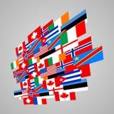 Флаги мира Стоковое Изображение