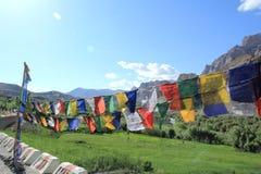 Флаги молитве в Ladakh стоковые изображения rf