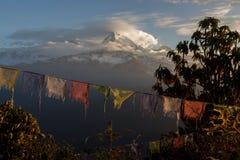 Флаги молитве на холме Poon Стоковое Фото