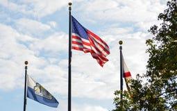 Флаги на озере Eola Стоковая Фотография